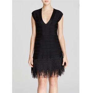 French Connection Black Fringe Dress
